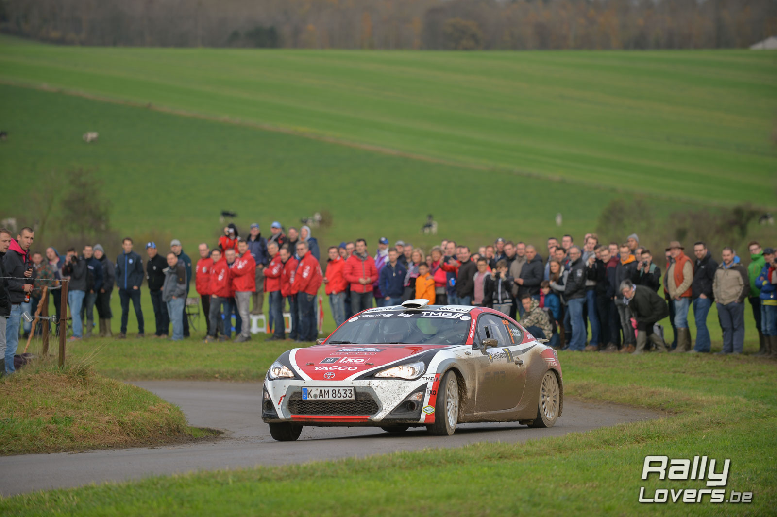 Polle Geusens met Toyota GT86 CS-R3 in Condroz Rally