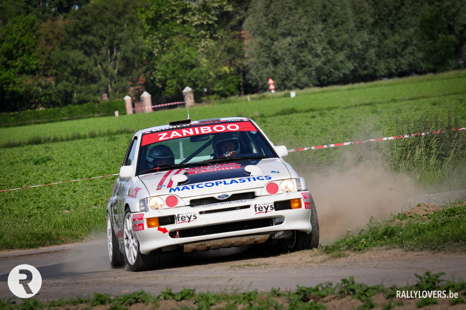 Paul Lietaer in de Ypres Rally Masters met Ford Escort Cosworth