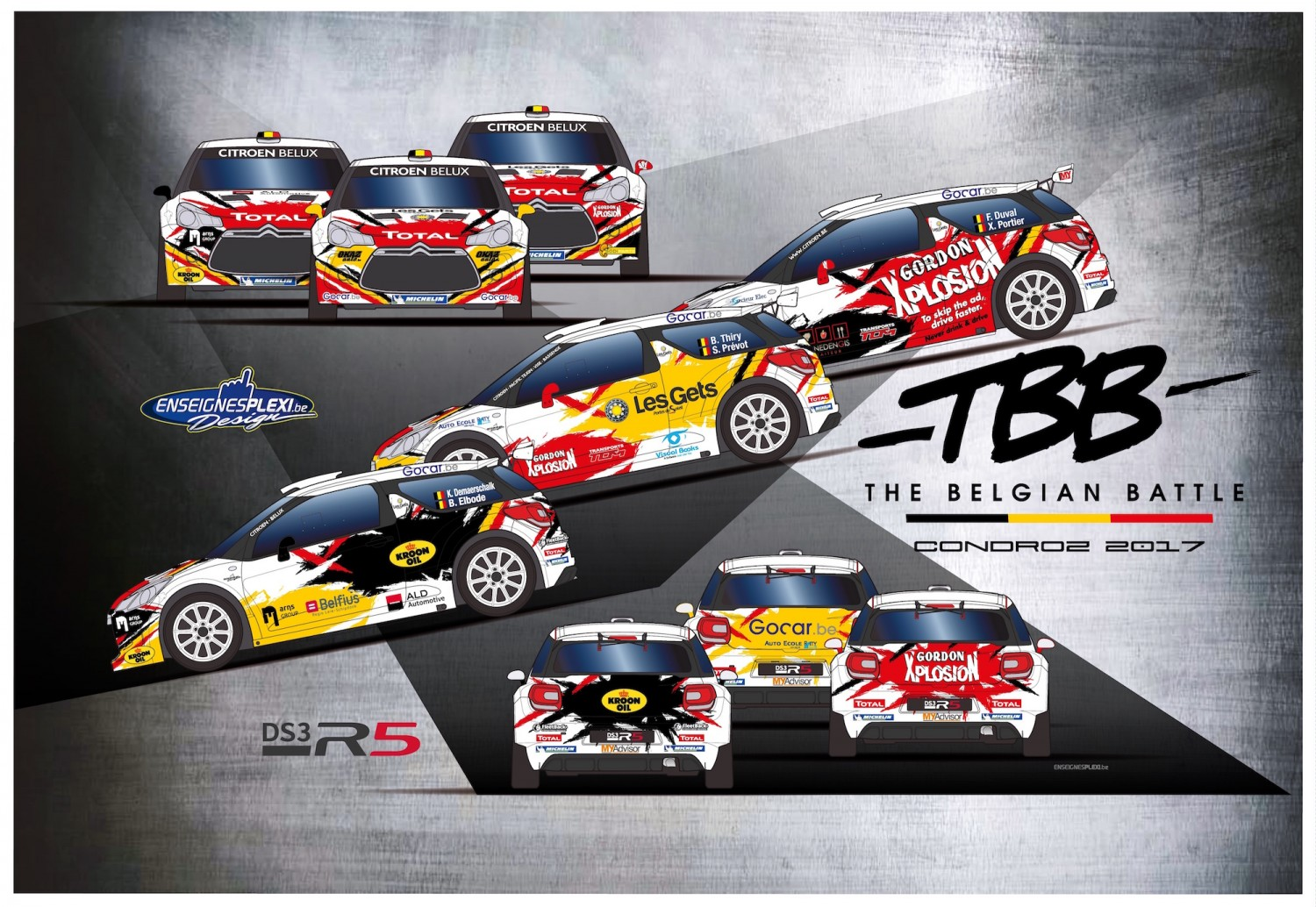 Condroz Rally - Thiry, Duval en Demaerschalk vertegenwoordigen Citroën in  'Belgian Battle'