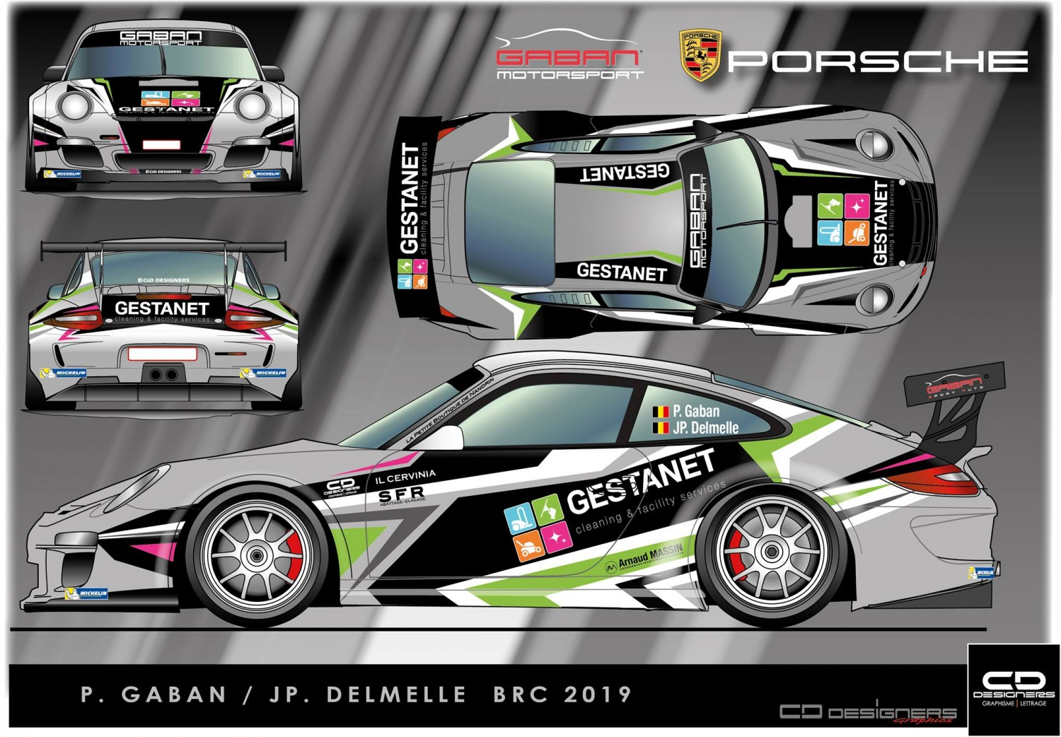 2019 - Come-back Pascal Gaban in Porsche GT3